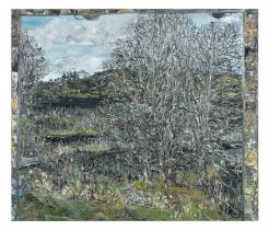 NICK MILLER (b.1962) Trees, Lough Arrow Oil on canvas, 66 x 76cm Signed; signed, inscribed and