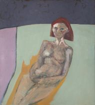 BRIAN BOURKE (b.1936) Portrait of a Woman Oil on canvas, 126.5 x 114cm Signed, inscribed and dated