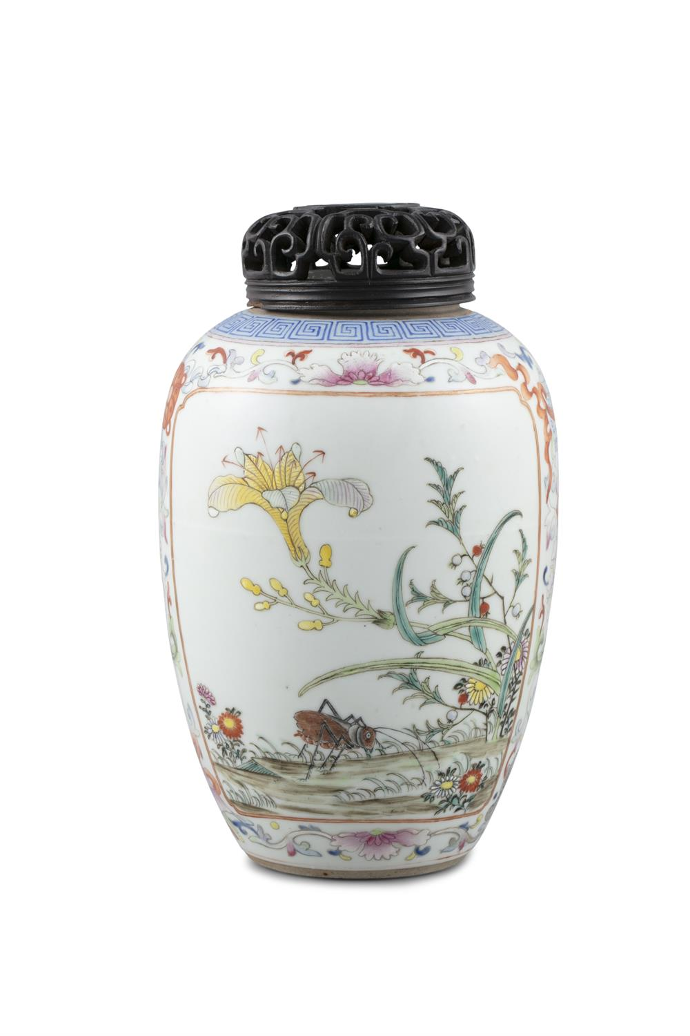 A FAMILLE ROSE PALETTE EGG SHAPED PORCELAIN VASE China, 19th to 20th century Richly adorned in the - Image 6 of 15