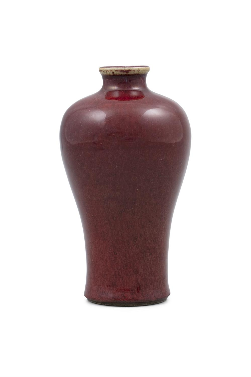 A FLAMBE GLAZED PORCELAIN MEIPING VASE China, Qing Dynasty, Most likely Kangxi period Bearing - Image 21 of 29