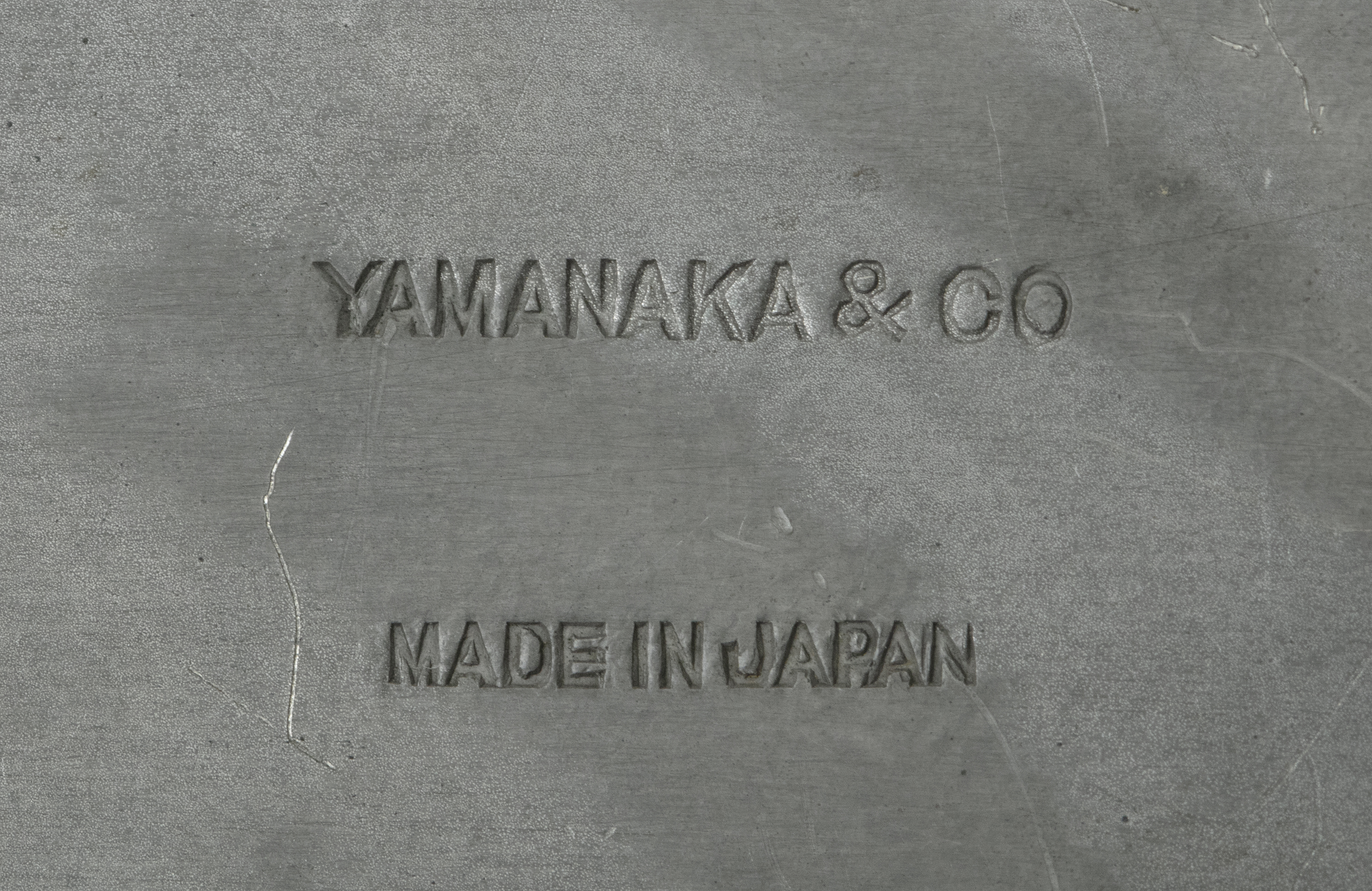 A PARCEL LACQUERED PEWTER LIDDED BOX SET WITH A JADE PIECE BY YAMANAKA & CO The box made in Japan, - Image 8 of 15