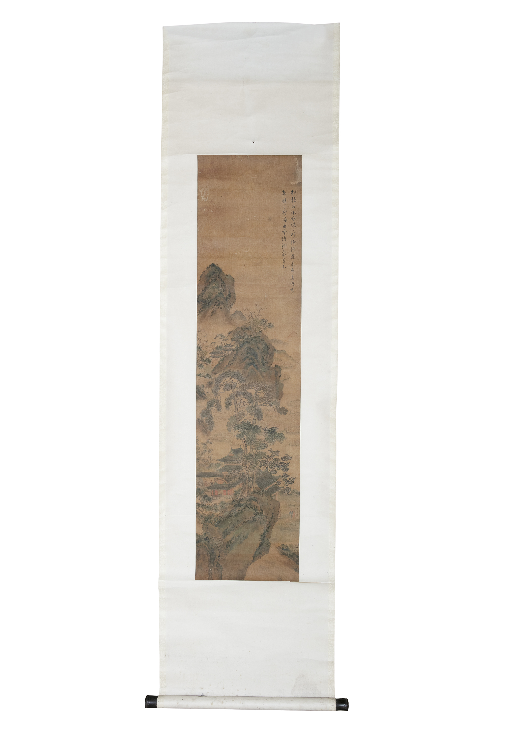 CHINESE SCHOOL, AFTER PURU 溥儒 ALSO KNOWN AS PU XINYU 溥心畬 (1896-1963) Landscape with a pavilion and - Image 2 of 7