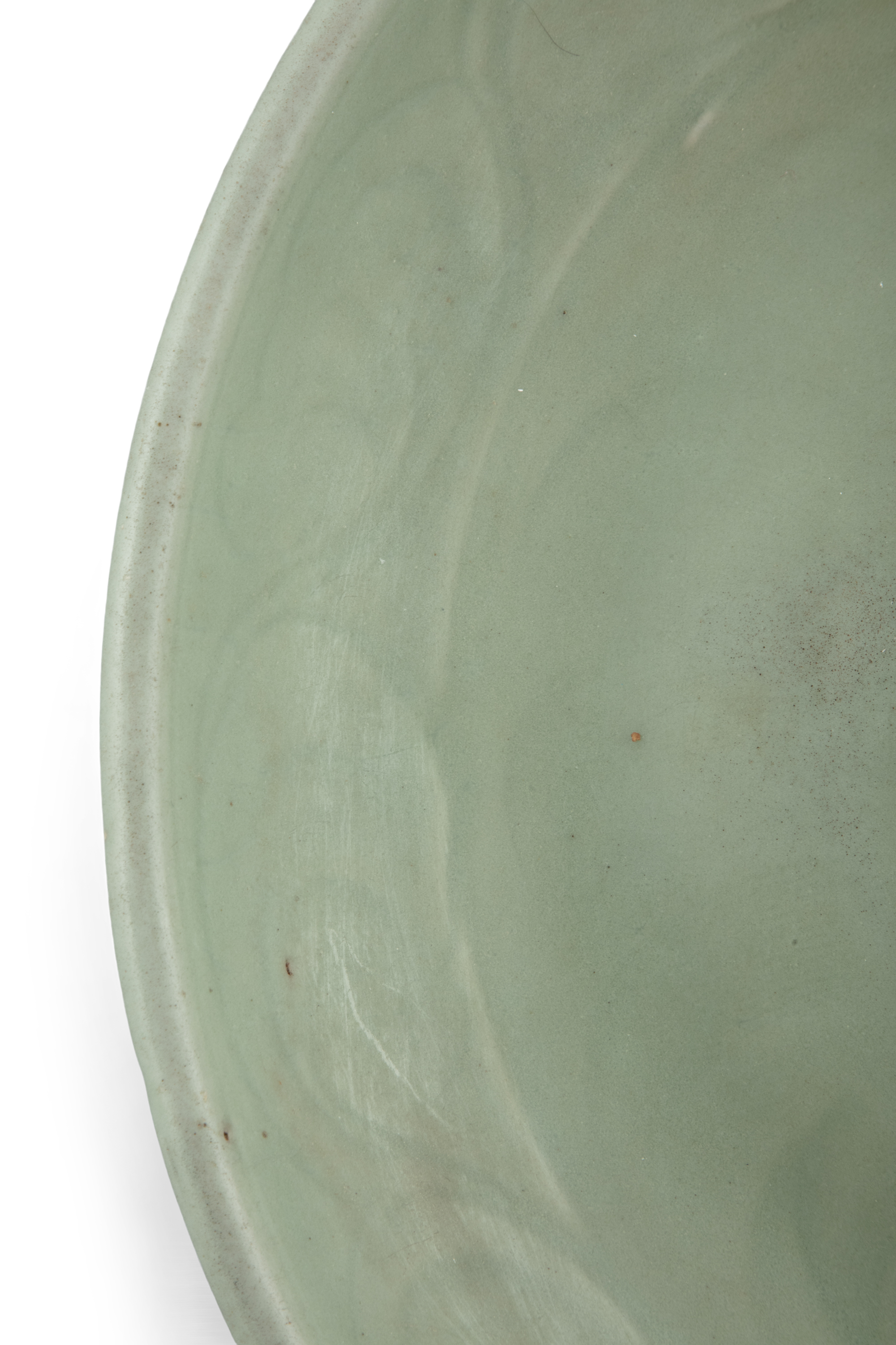 A LONGQUAN CELADON 'FLORAL SPRAY' FLAT DISH With a both engraved and molded design, the center - Image 5 of 11