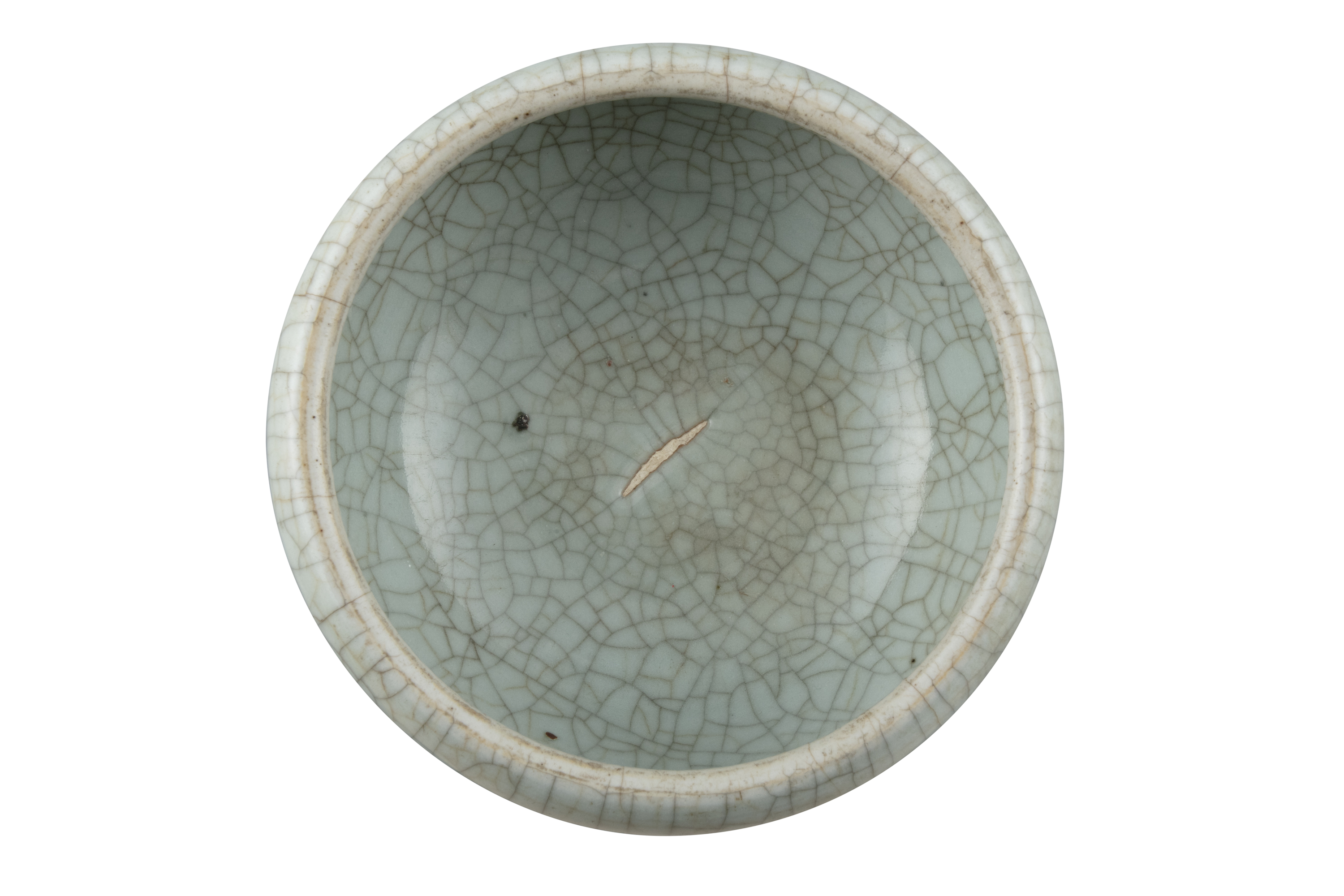 A GEYAO TYPE CRACKLED-CELADON GLAZED GLOBULAR INCENSE-BURNER China, Late Qing to Republican period - Image 7 of 11