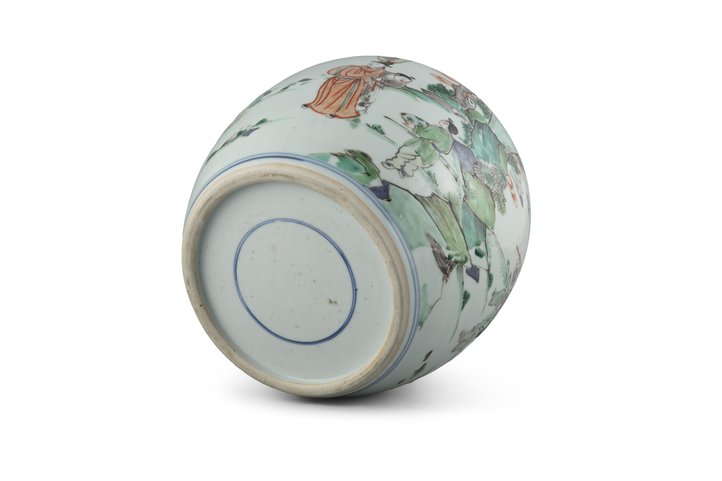 A FAMILLE VERTE 'BOY AND QILIN' PORCELAIN GINGER JAR China, Qing Dynasty, Kangxi period Adorned in - Image 19 of 20