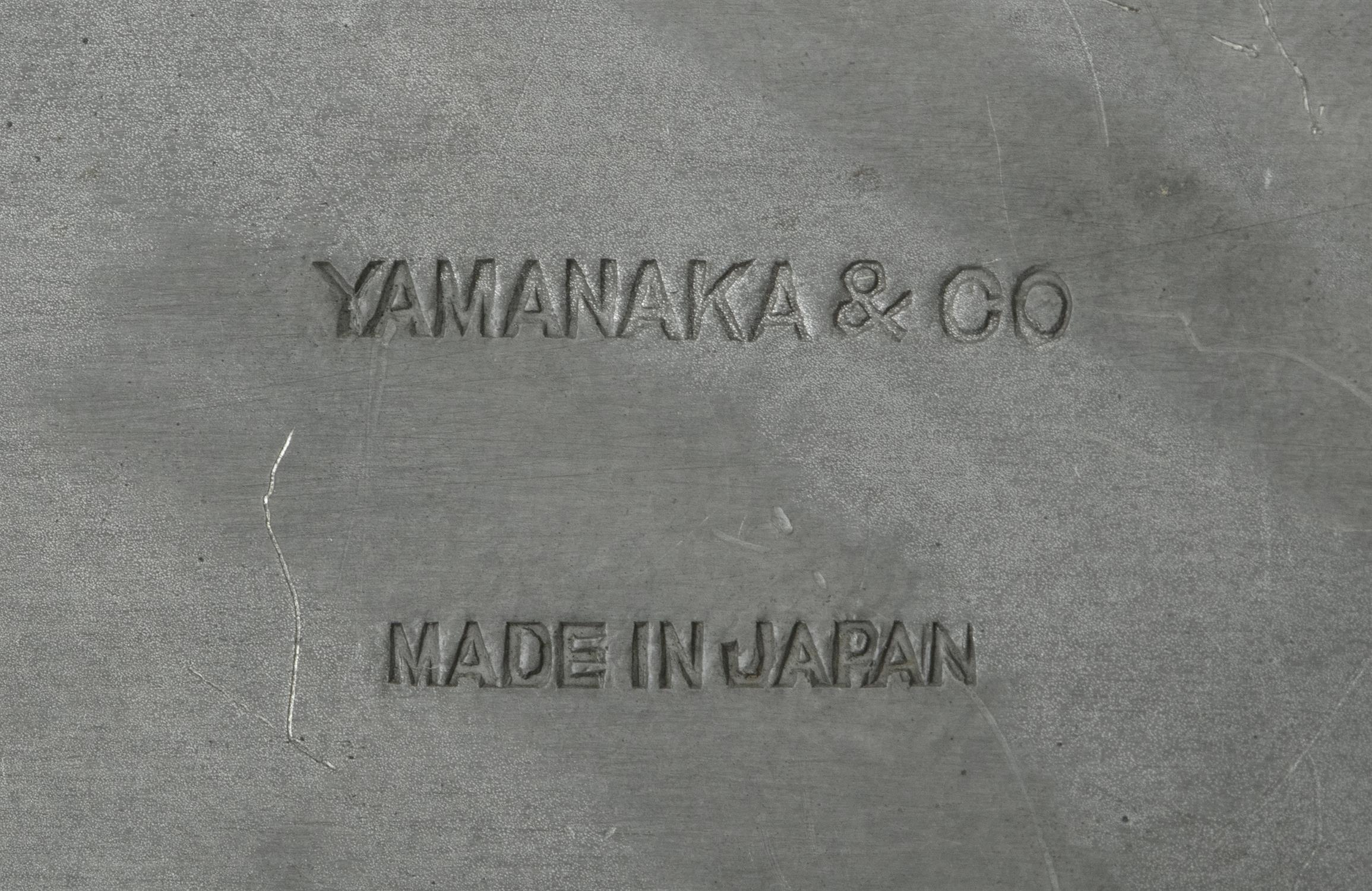 A PARCEL LACQUERED PEWTER LIDDED BOX SET WITH A JADE PIECE BY YAMANAKA & CO The box made in Japan, - Image 14 of 15