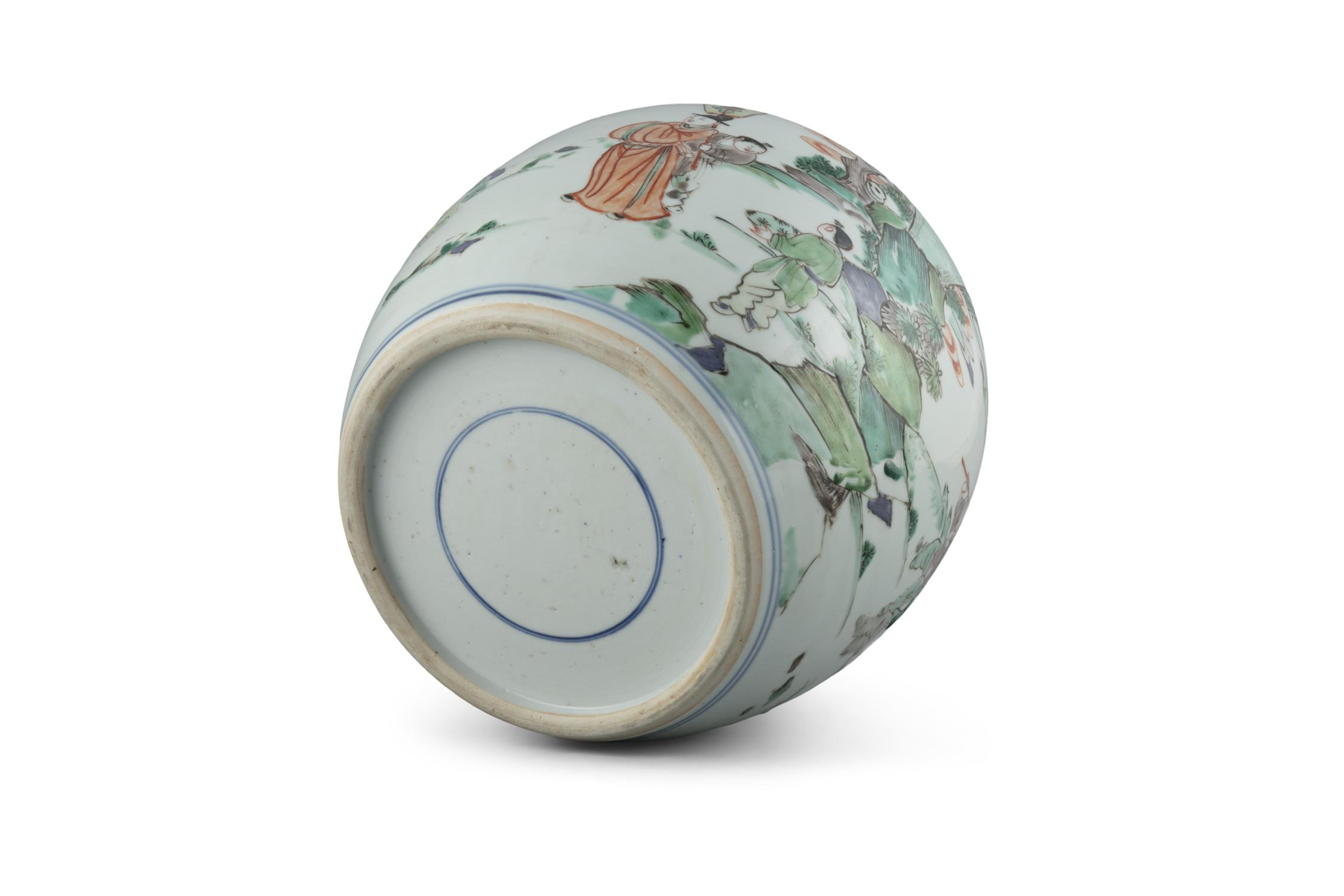 A FAMILLE VERTE 'BOY AND QILIN' PORCELAIN GINGER JAR China, Qing Dynasty, Kangxi period Adorned in - Image 15 of 20