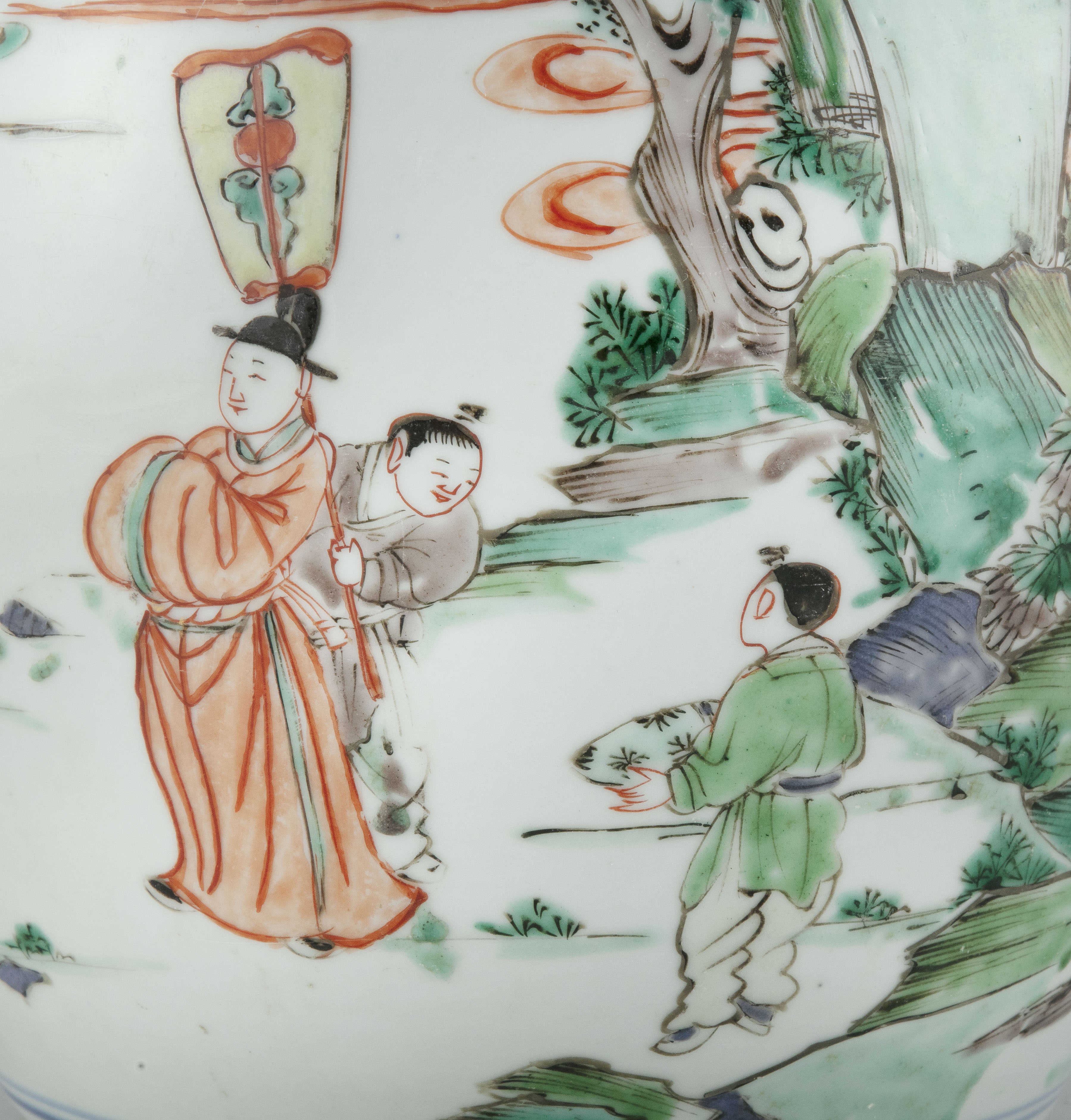 A FAMILLE VERTE 'BOY AND QILIN' PORCELAIN GINGER JAR China, Qing Dynasty, Kangxi period Adorned in - Image 6 of 20
