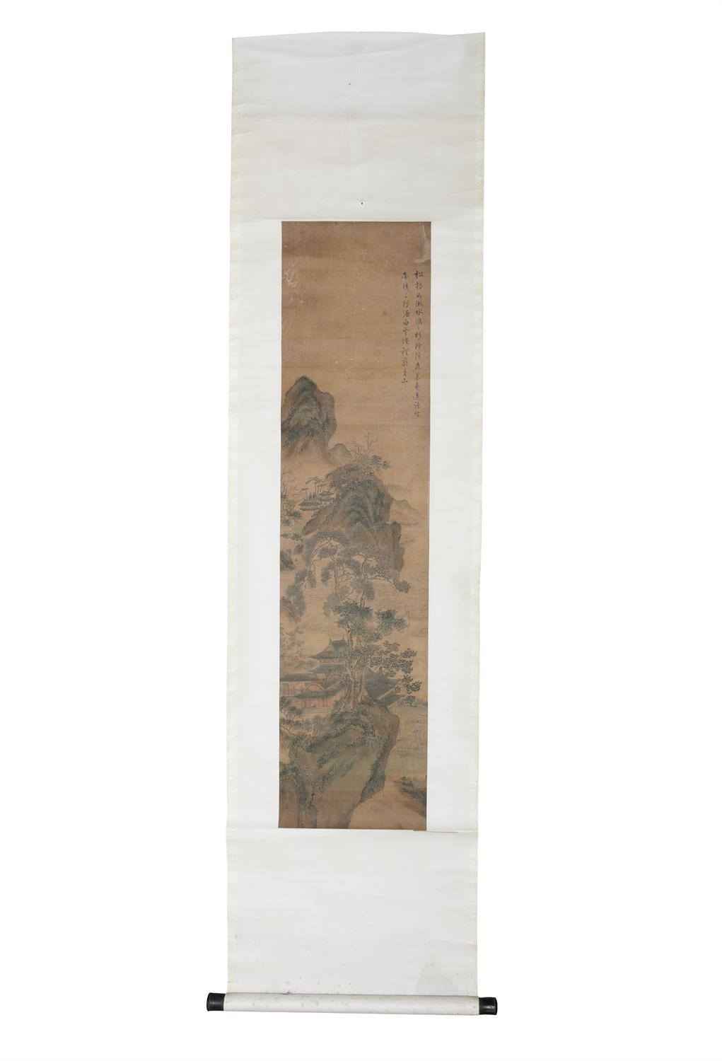 CHINESE SCHOOL, AFTER PURU 溥儒 ALSO KNOWN AS PU XINYU 溥心畬 (1896-1963) Landscape with a pavilion and - Image 6 of 7