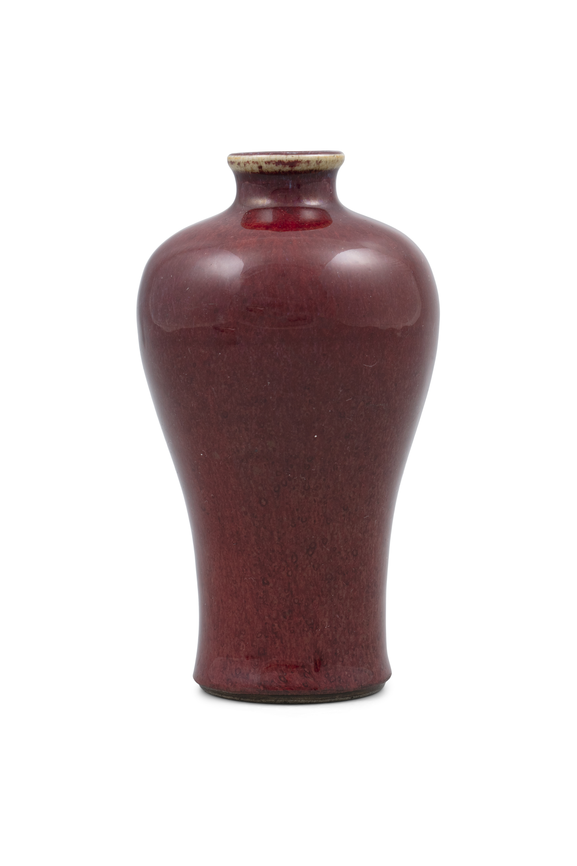 A FLAMBE GLAZED PORCELAIN MEIPING VASE China, Qing Dynasty, Most likely Kangxi period Bearing