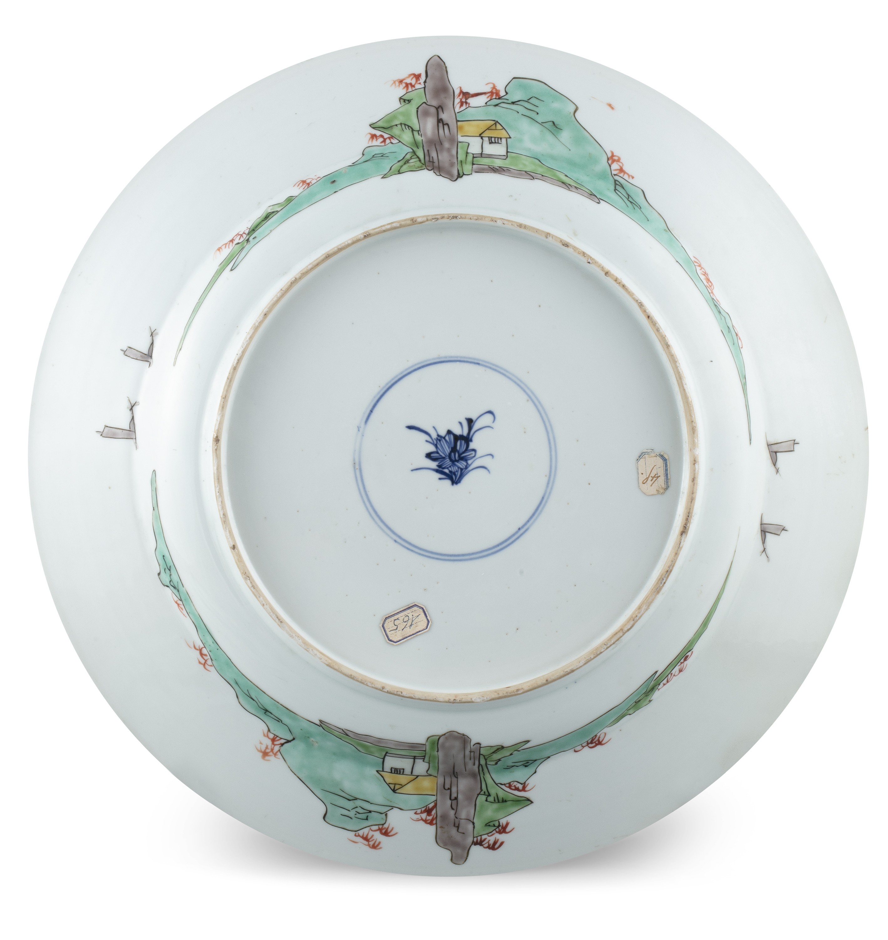 AN IMPORTANT PAIR OF FAMILLE VERTE 'FLYCATCHER AND MAGPIES' PORCELAIN SHALLOW DISHES China, Qing - Image 28 of 35