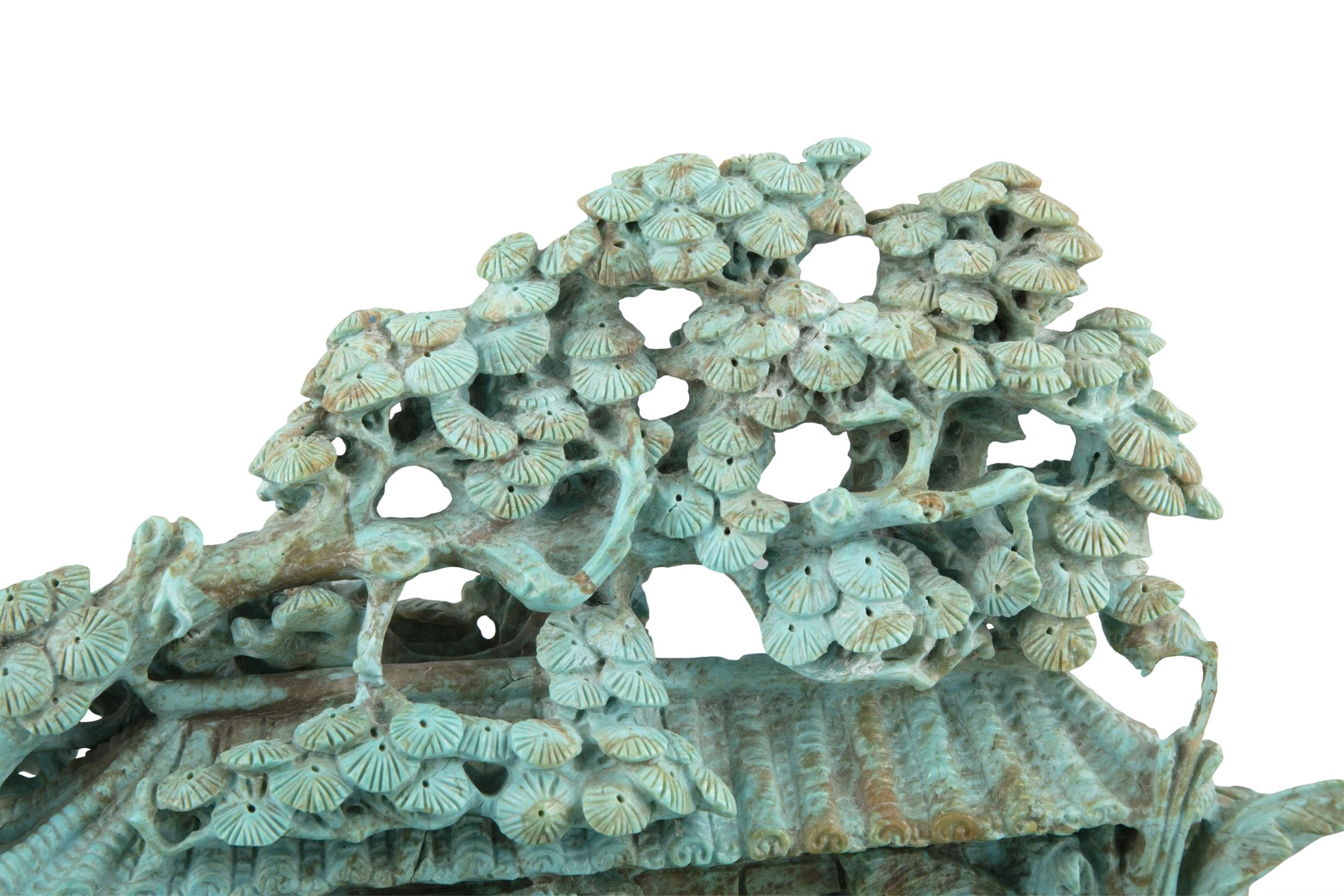 A LARGE AND UNUSUAL TURQUOISE MATRIX LANDSCAPE China, 20th century An important and large group - Image 21 of 22