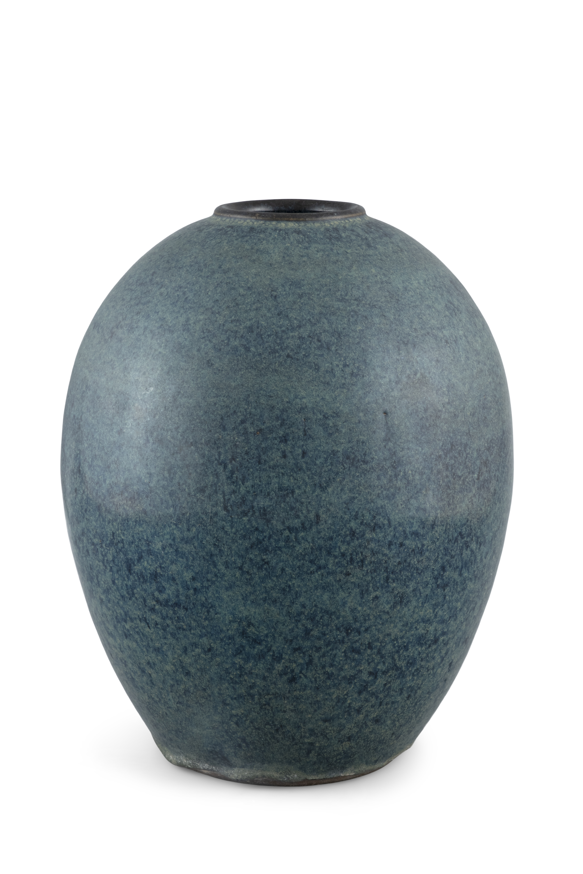 A ROBIN'S EGG GLAZED YIXING VASE BEARING THE SEAL OF GE MINGXIANG 葛明祥 China, 18th century or later