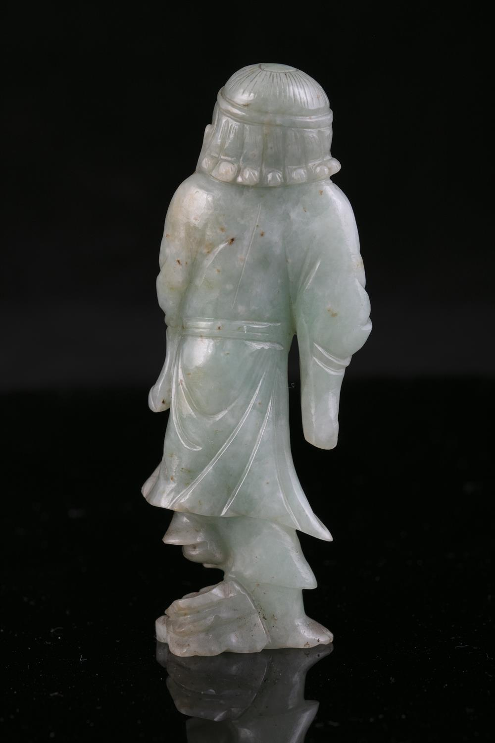 A JADEITE JADE FIGURE OF A STANDING TIEGUAI LI China, Circa 1900 The immortal is depicted with a - Image 18 of 20