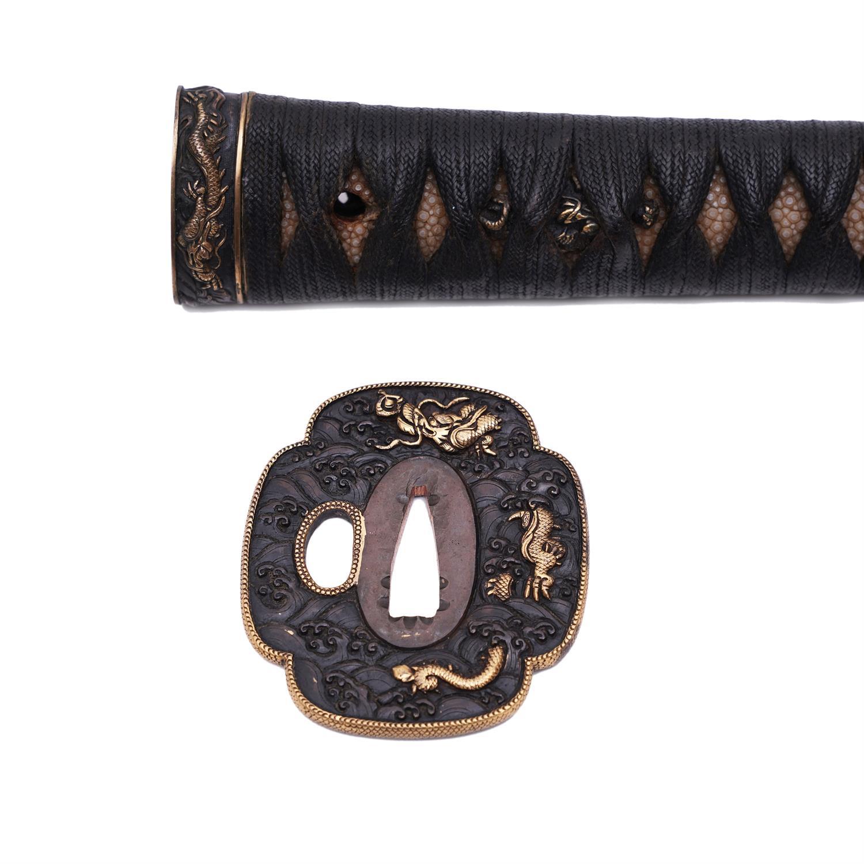 .A PAIR OF SAMURAI SWORDS, DAISHO Japan 1. Description of the katana: The katana is Shinto according - Image 12 of 24