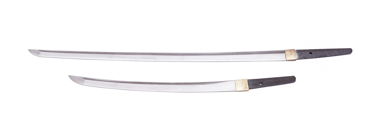 .A PAIR OF SAMURAI SWORDS, DAISHO Japan 1. Description of the katana: The katana is Shinto according - Image 18 of 24