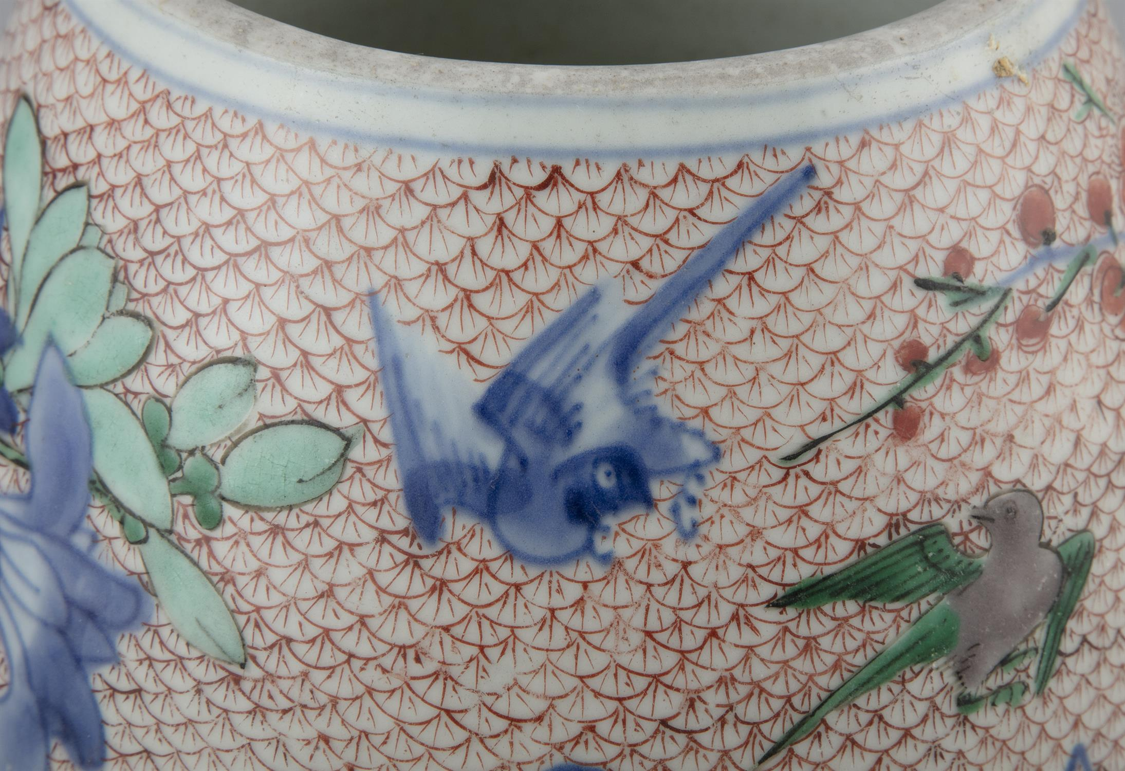 AN IMARI-PALETTE EGG-SHAPED 'MAGPIES AND PLUM' PORCELAIN WATER POT Japan, Meiji period Richly - Image 5 of 6