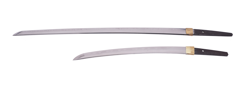 .A PAIR OF SAMURAI SWORDS, DAISHO Japan 1. Description of the katana: The katana is Shinto according - Image 23 of 24
