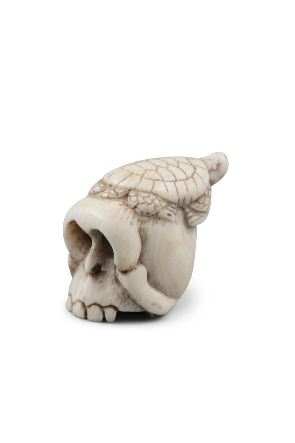 *VANITY - A GROUP OF TWO (2) 'SKULL' KATABORI NETSUKE Japan, 19th century The first one carved out - Image 14 of 18