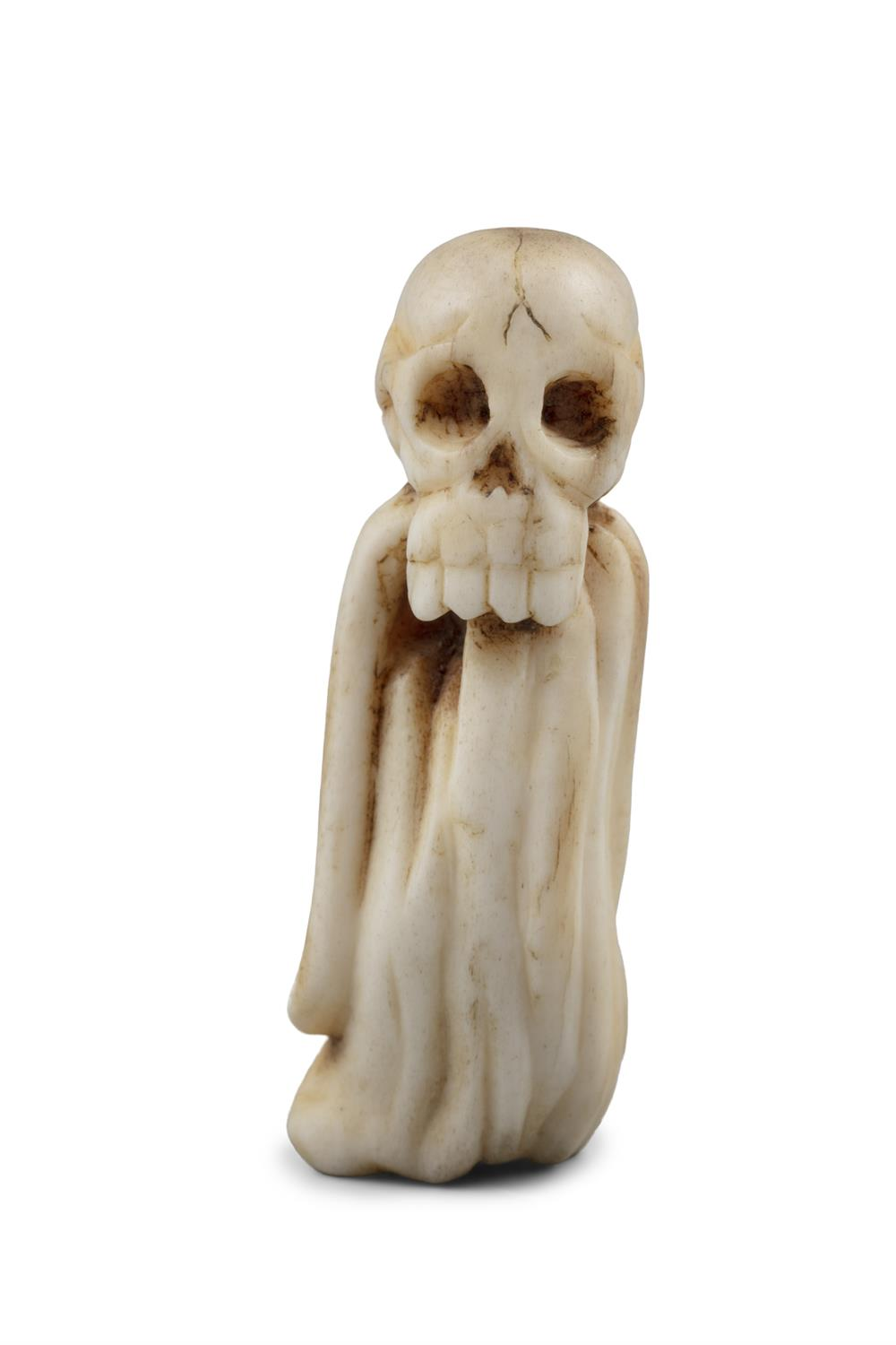 *VANITY - A GROUP OF TWO (2) 'SKULL' KATABORI NETSUKE Japan, 19th century The first one carved out - Image 11 of 18