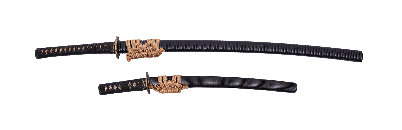 .A PAIR OF SAMURAI SWORDS, DAISHO Japan 1. Description of the katana: The katana is Shinto according