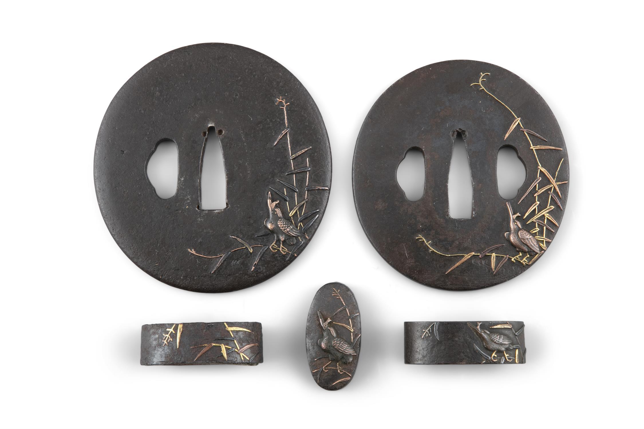 A PAIR OF DAISHO TSUBAS Japan, Edo period Both of naga maru gata type, for a daïsho (twin katana and - Image 4 of 6