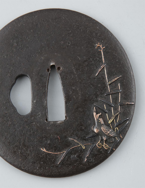 A PAIR OF DAISHO TSUBAS Japan, Edo period Both of naga maru gata type, for a daïsho (twin katana and - Image 6 of 6