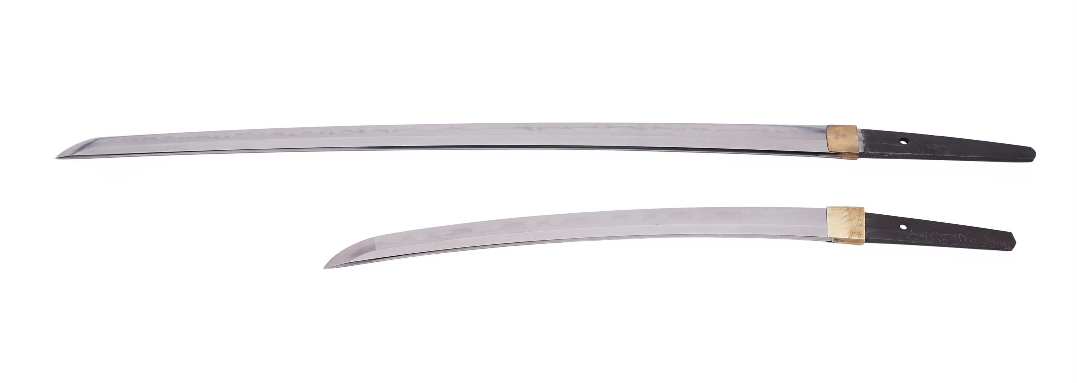 .A PAIR OF SAMURAI SWORDS, DAISHO Japan 1. Description of the katana: The katana is Shinto according - Image 9 of 24