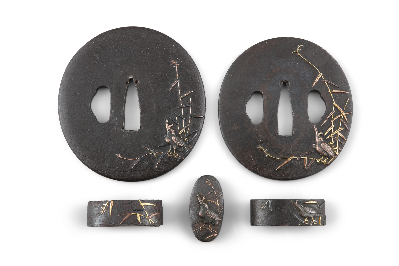A PAIR OF DAISHO TSUBAS Japan, Edo period Both of naga maru gata type, for a daïsho (twin katana and