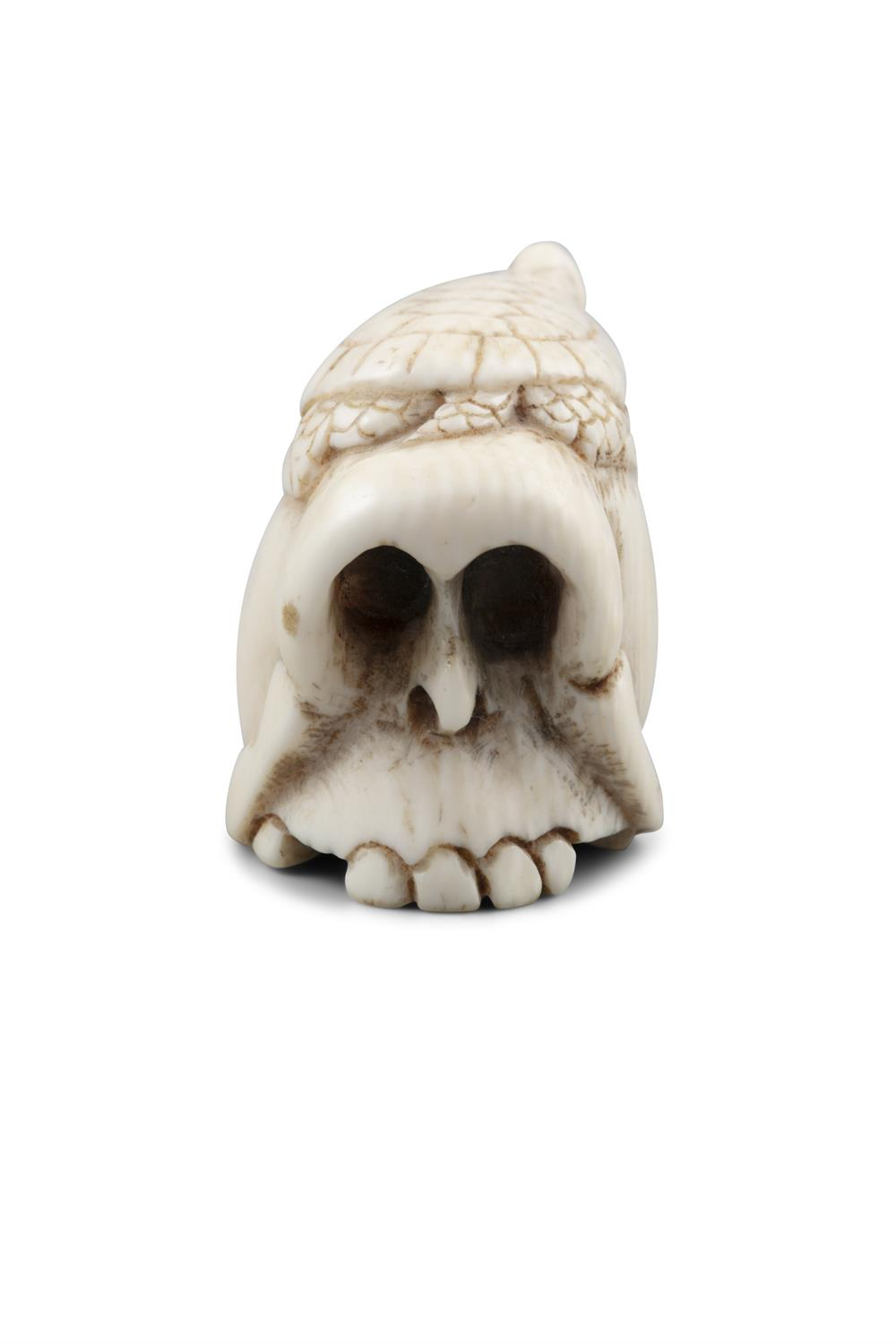 *VANITY - A GROUP OF TWO (2) 'SKULL' KATABORI NETSUKE Japan, 19th century The first one carved out - Image 16 of 18