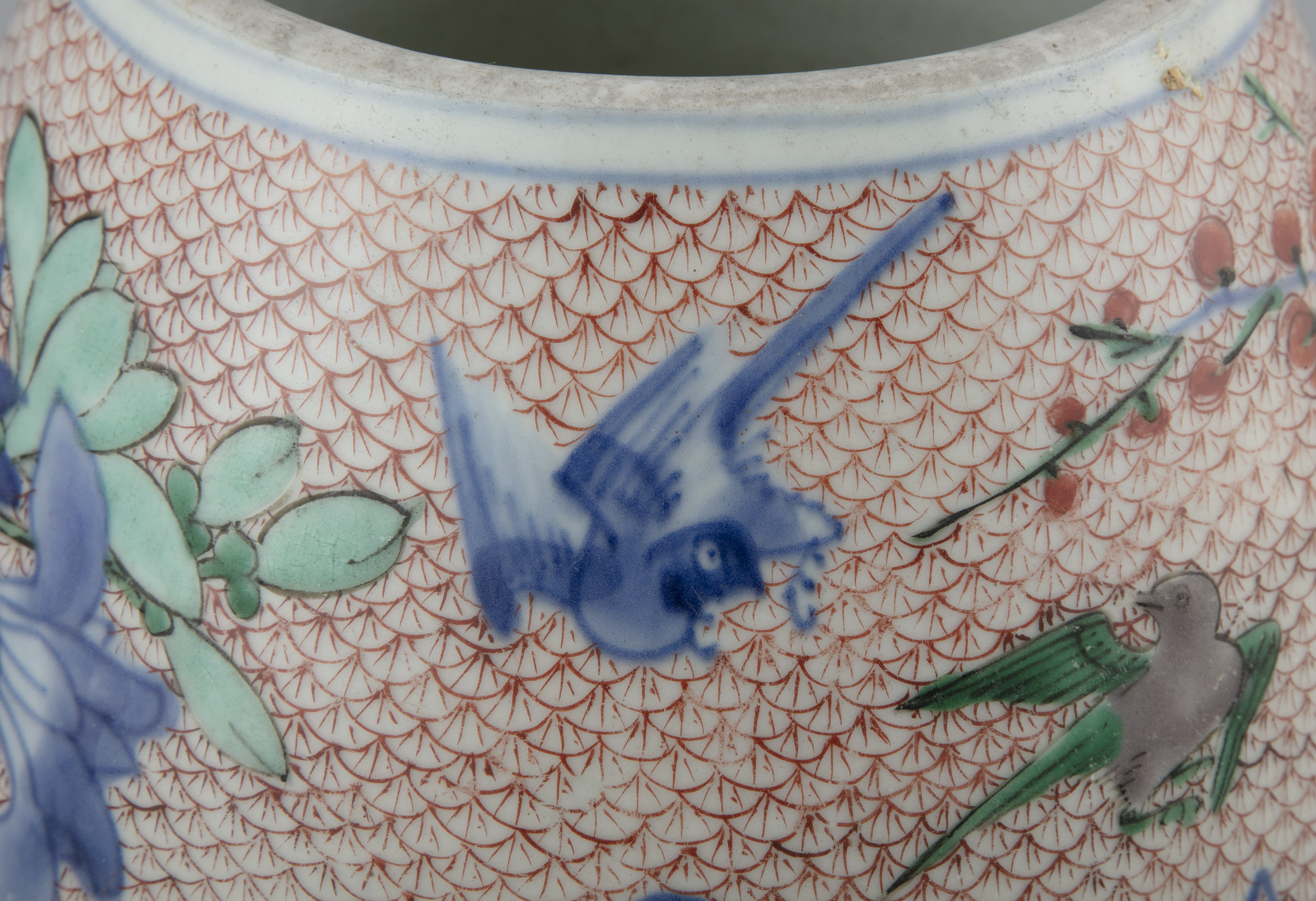 AN IMARI-PALETTE EGG-SHAPED 'MAGPIES AND PLUM' PORCELAIN WATER POT Japan, Meiji period Richly - Image 2 of 6