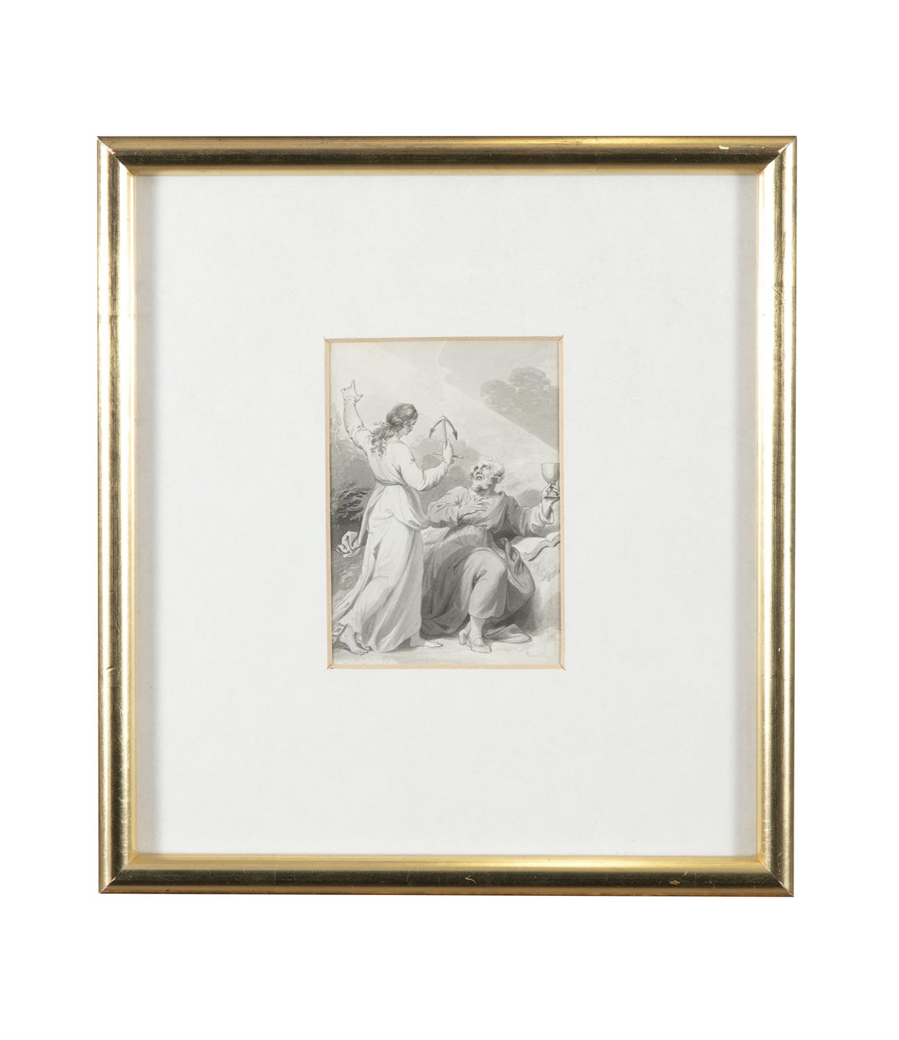 ATTRIBUTED TO WILLIAM HAMILTON RA (1751-1801) Biblical and Allegorical Figural Scenes A - Image 7 of 12