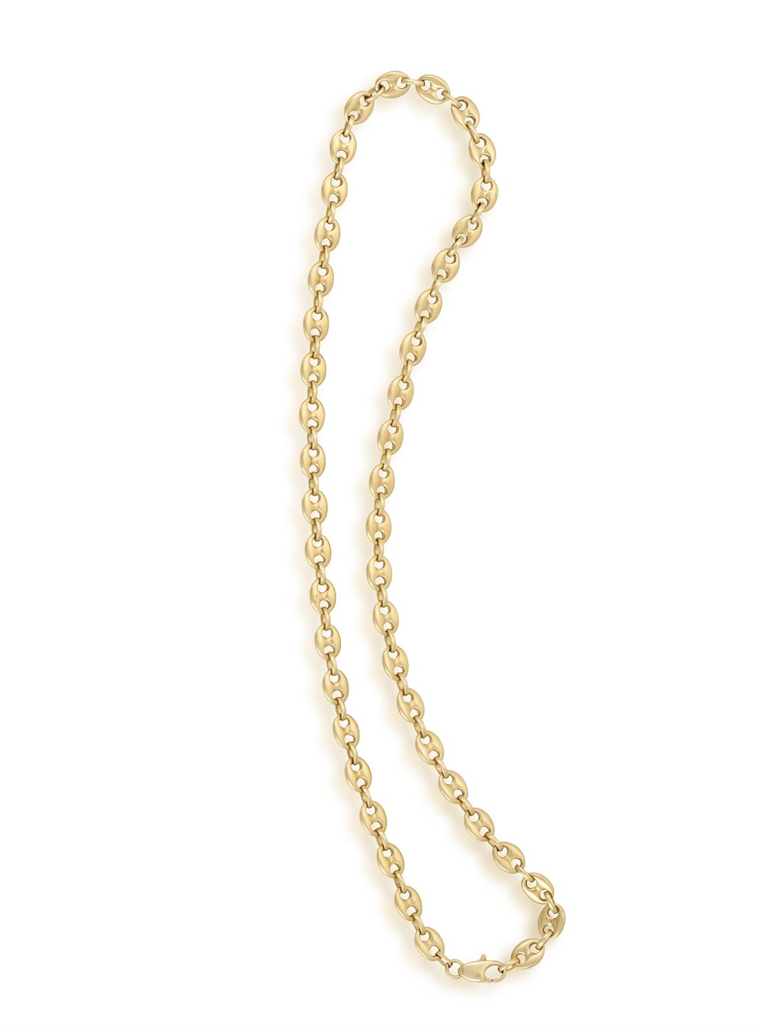 A GOLD NECKLACE, composed of Gucci links, in 18K gold, length 51.5cm