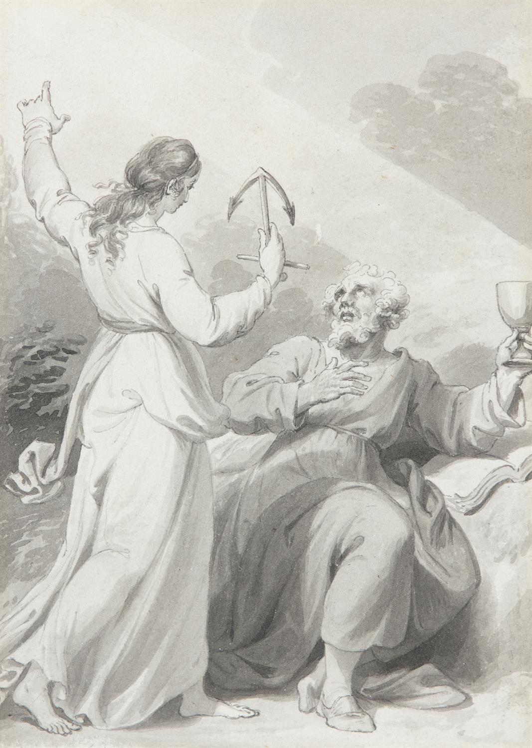 ATTRIBUTED TO WILLIAM HAMILTON RA (1751-1801) Biblical and Allegorical Figural Scenes A - Image 8 of 12