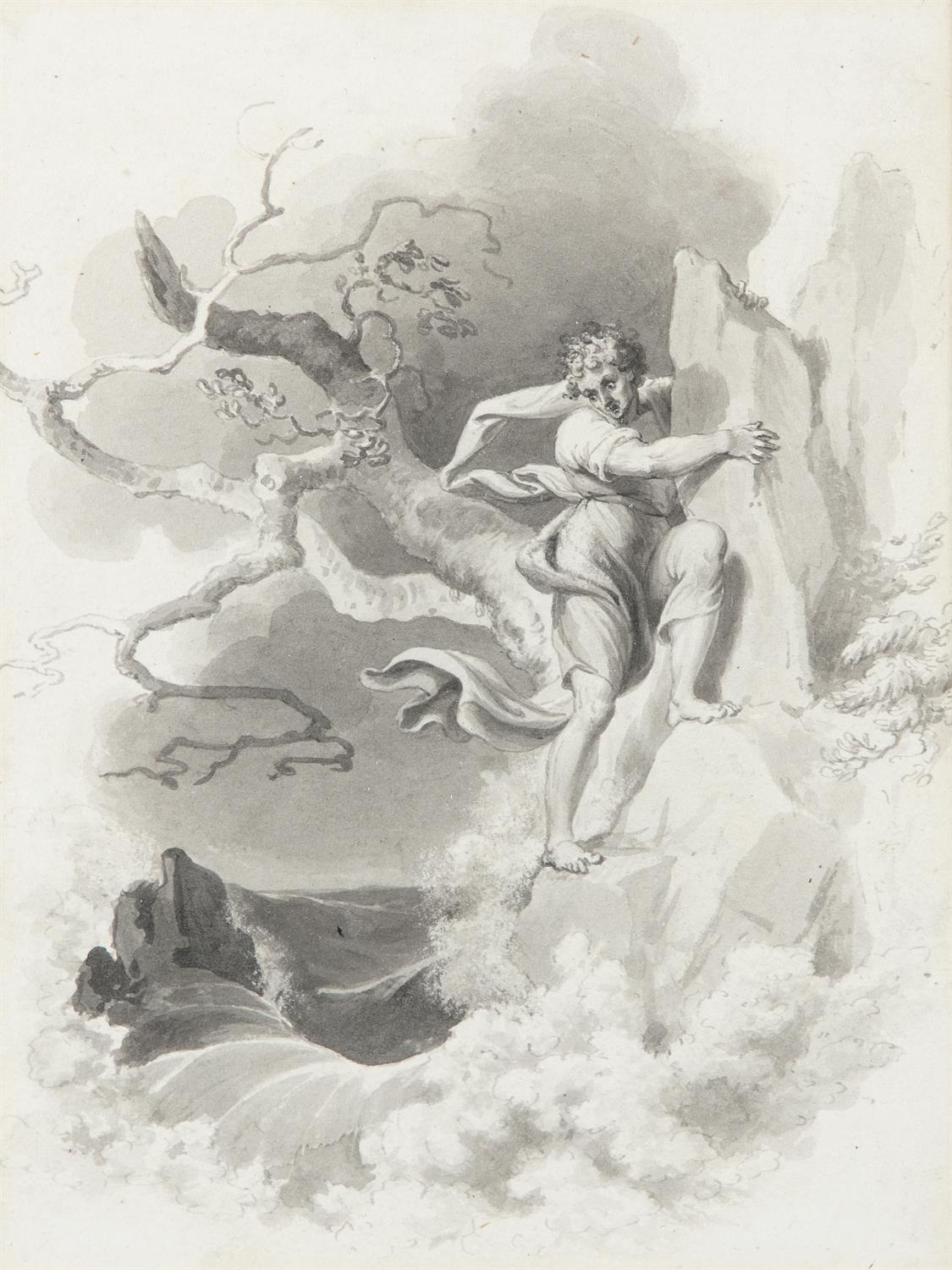 ATTRIBUTED TO WILLIAM HAMILTON RA (1751-1801) Biblical and Allegorical Figural Scenes A - Image 4 of 12