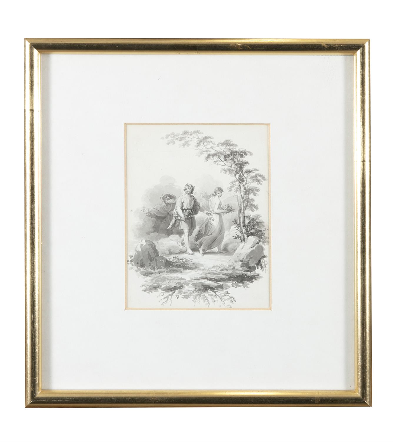 ATTRIBUTED TO WILLIAM HAMILTON RA (1751-1801) Biblical and Allegorical Figural Scenes A