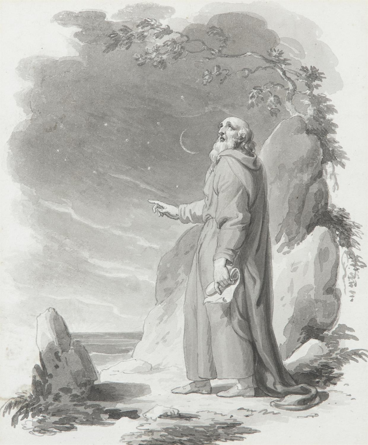 ATTRIBUTED TO WILLIAM HAMILTON RA (1751-1801) Biblical and Allegorical Figural Scenes A - Image 6 of 12