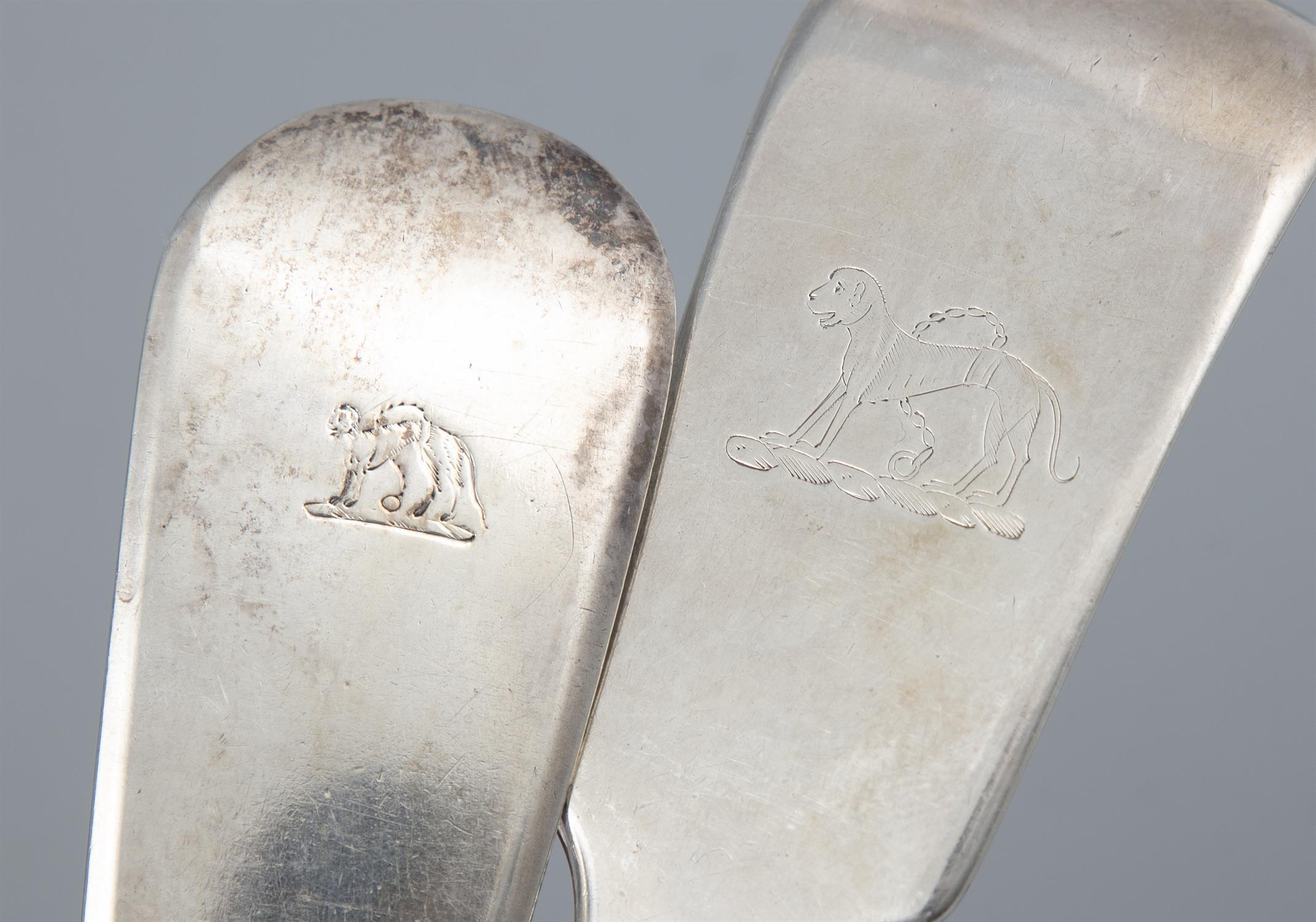 A MATCHED SET OF FIDDLE PATTERN SILVER FLATWARE, London, of various dates and makers, - Image 2 of 4