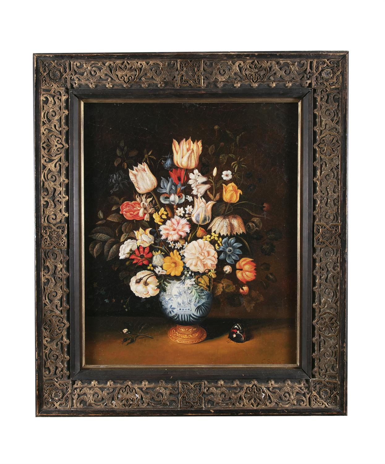 AFTER AMBROSIUS BOSSCHAERT THE YOUNGER (19TH CENTURY ) Still life with flowers in a Wan-Li Kraak