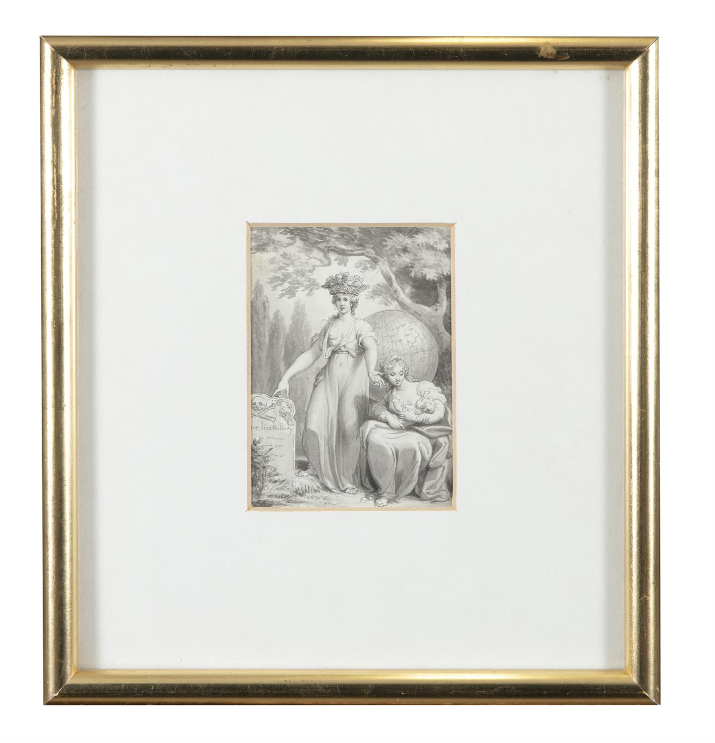 ATTRIBUTED TO WILLIAM HAMILTON RA (1751-1801) Biblical and Allegorical Figural Scenes A - Image 9 of 12