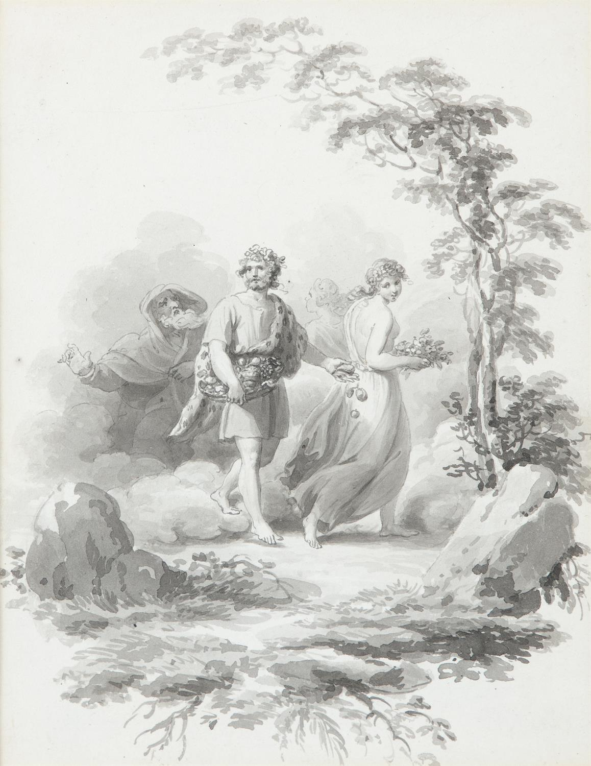ATTRIBUTED TO WILLIAM HAMILTON RA (1751-1801) Biblical and Allegorical Figural Scenes A - Image 2 of 12