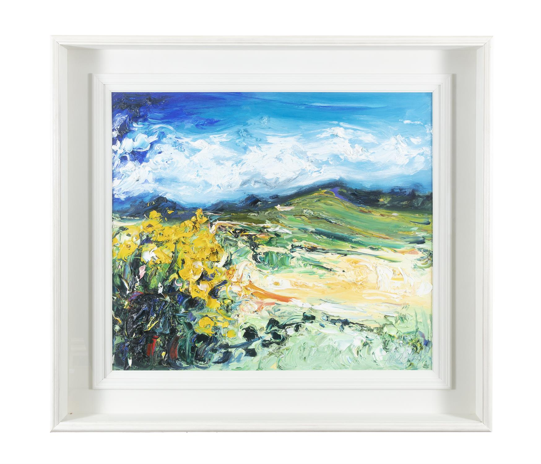 Michael Flaherty (b.1950) Yellow Flag, Brandon Mountain Oil on board, 60 x 68cm (23½ x - Image 2 of 5