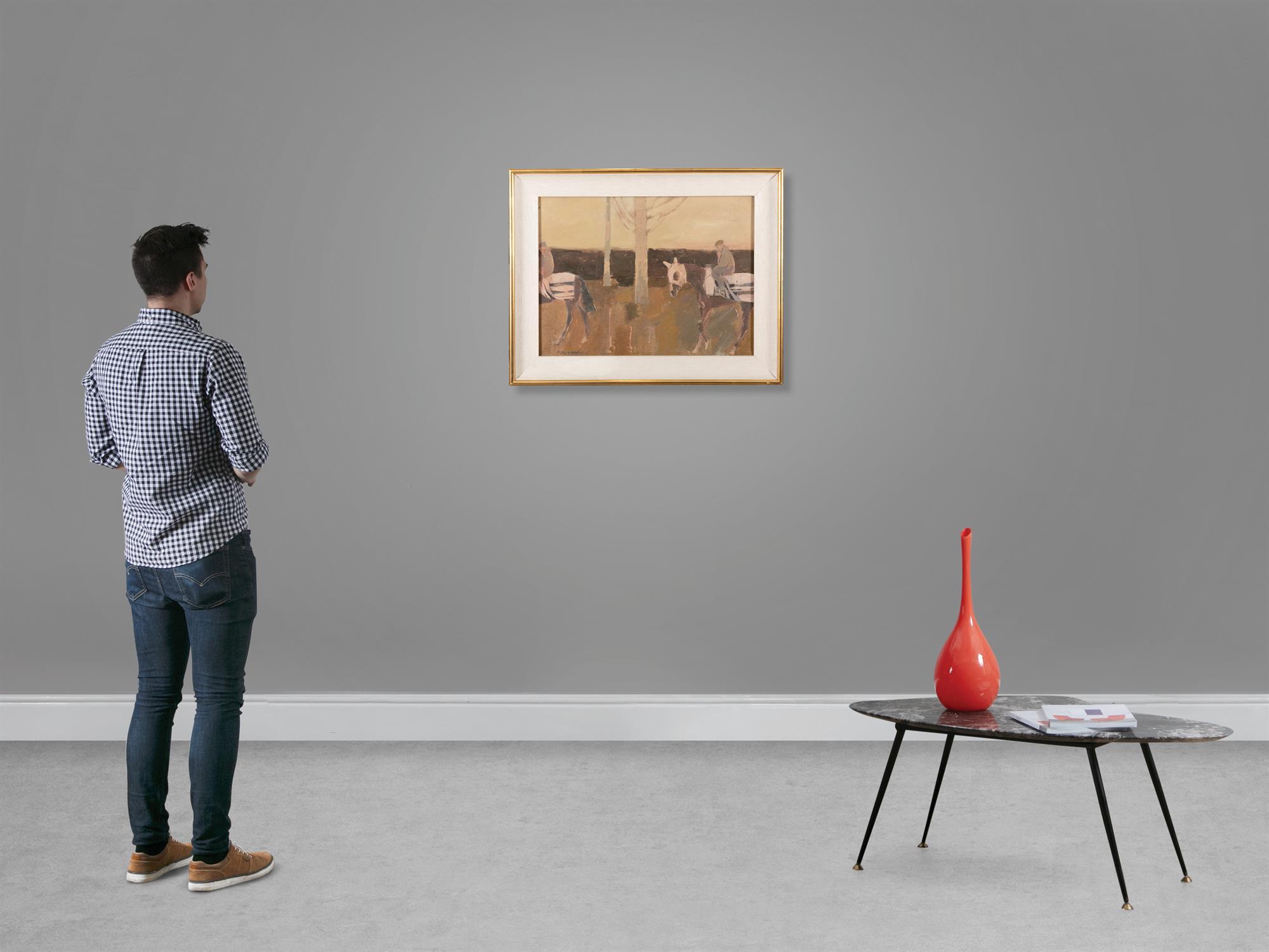 Basil Blackshaw HRHA RUA (1932-2016) Exercising Race Horses Oil on canvas, 45 x 60cm (17¾ x - Image 5 of 5