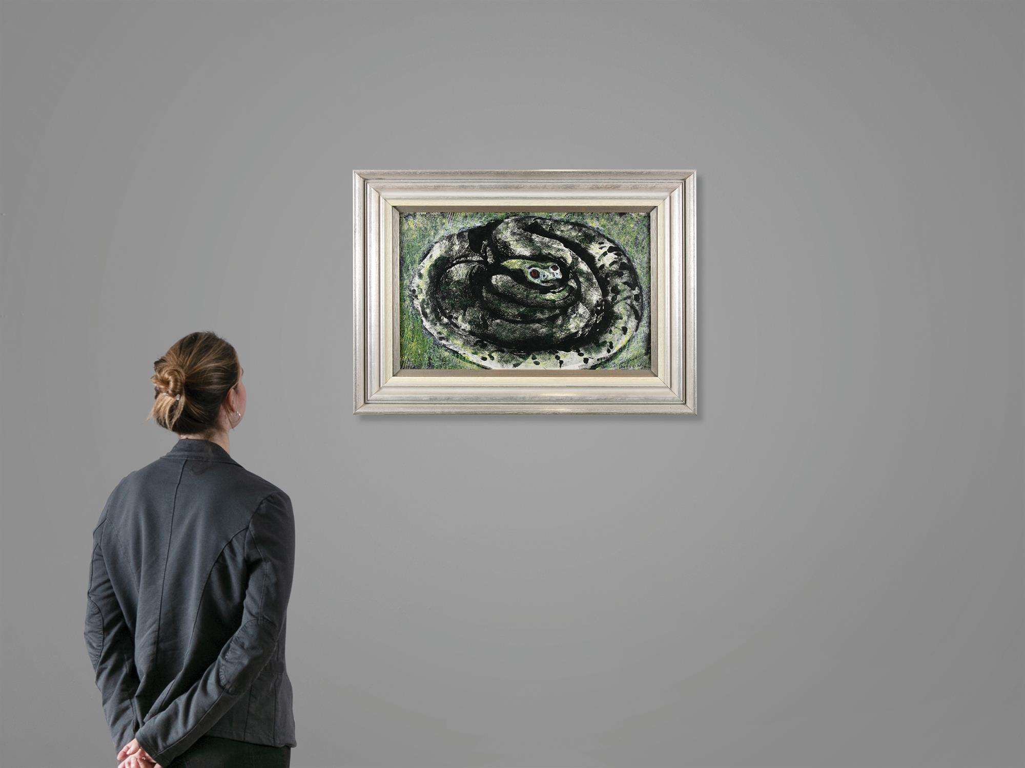 """Gerard Dillon (1916-1971) Snake Mixed media, 29 x 46cm (11½ x 18"""") Signed Provenance: With - Image 5 of 5"""