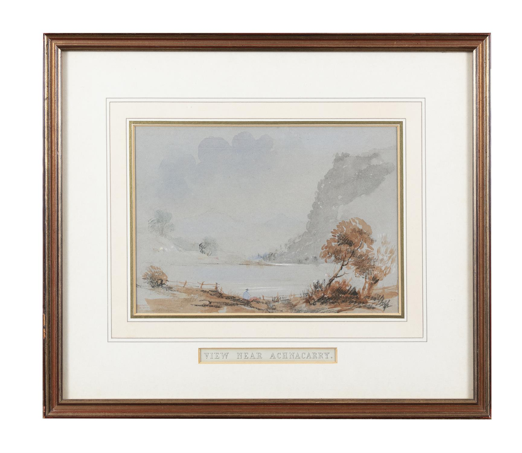 Frederick Marquis of Londonderry 'View Near Achnacarry' and 'View Near Ragatz' Three watercolours, - Image 2 of 8