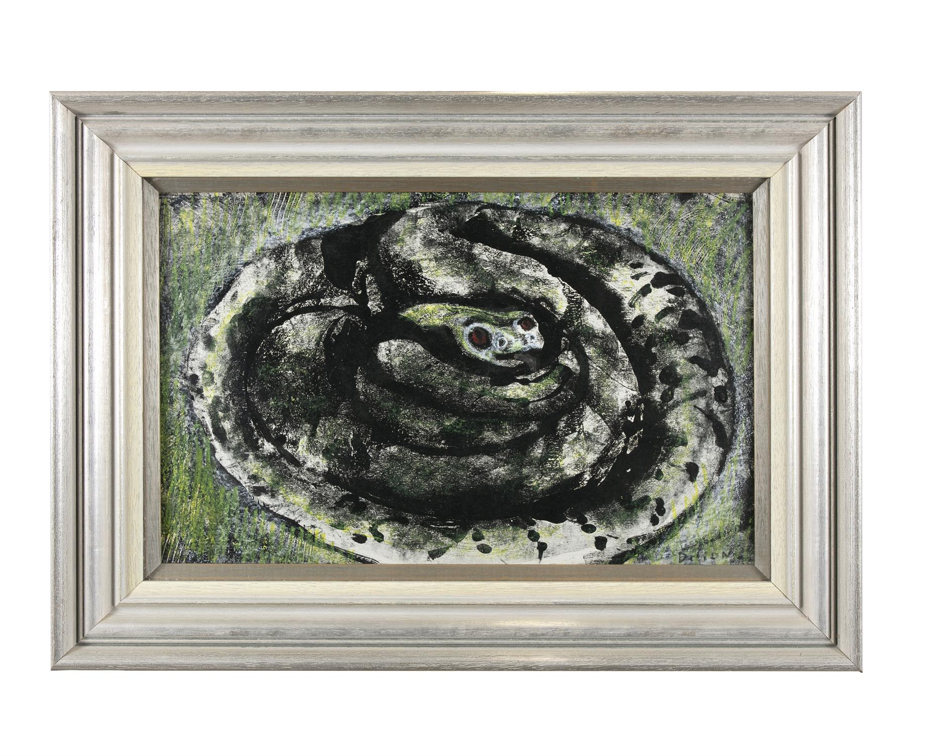 """Gerard Dillon (1916-1971) Snake Mixed media, 29 x 46cm (11½ x 18"""") Signed Provenance: With - Image 2 of 5"""