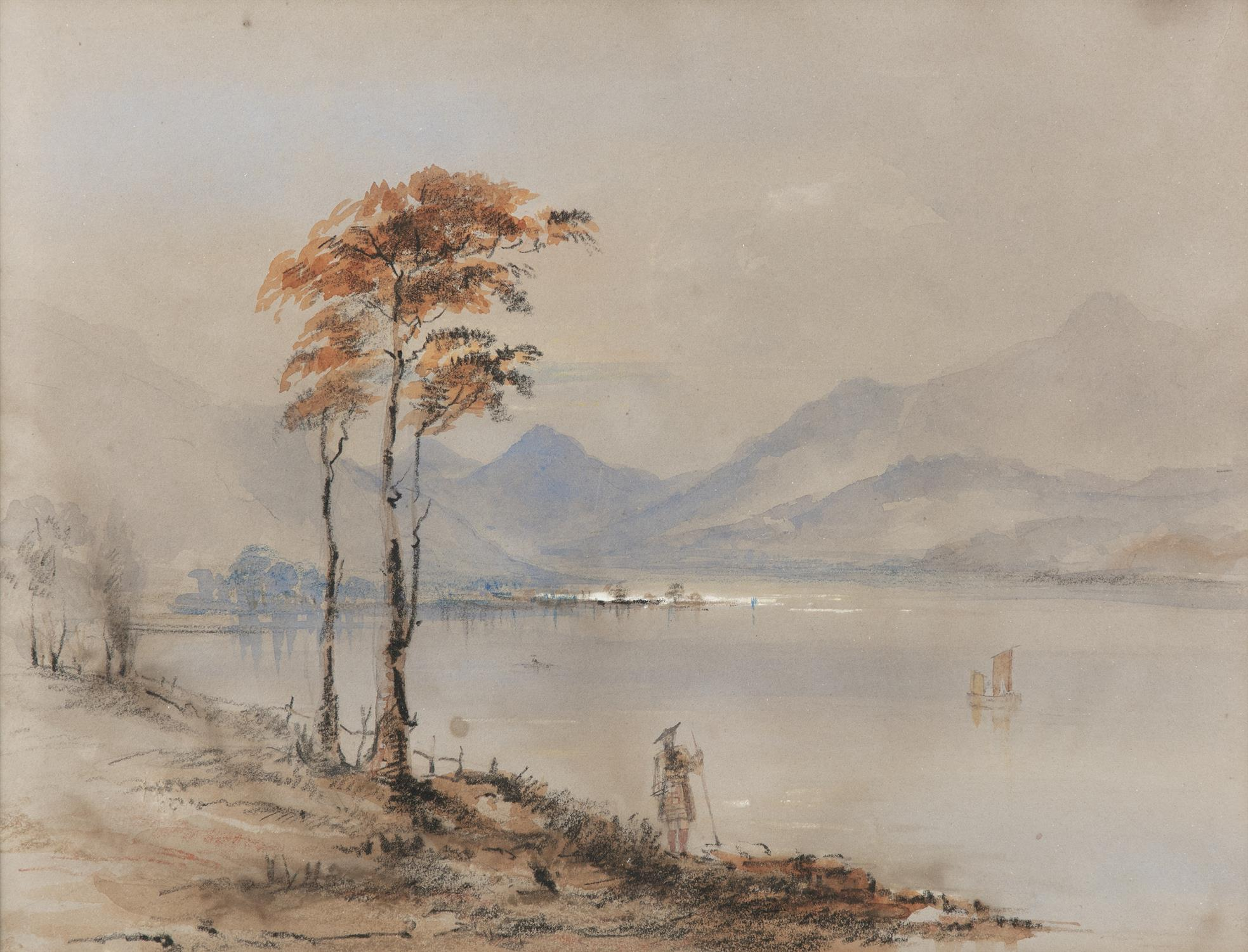 Frederick Marquis of Londonderry 'View Near Achnacarry' and 'View Near Ragatz' Three watercolours, - Image 7 of 8