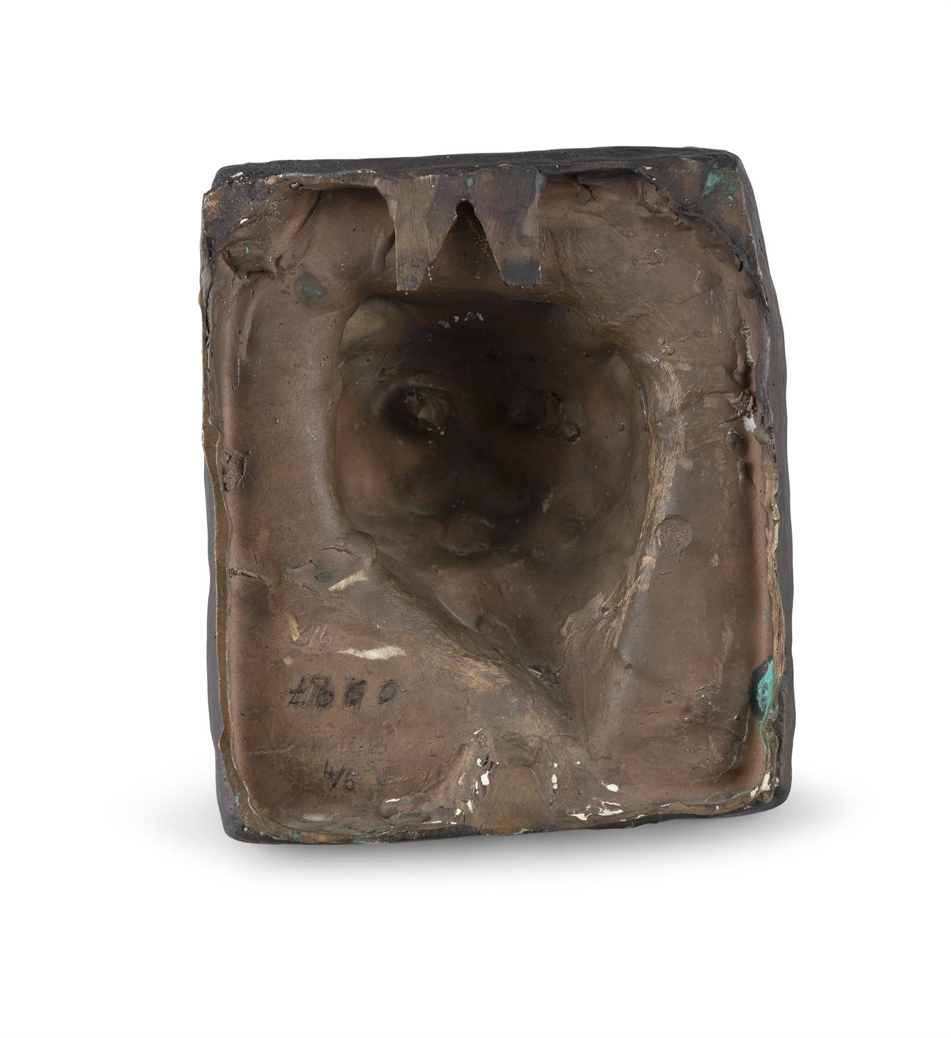 Melanie Le Brocquy HRHA (1919-2018) Cat Bronze, 17 x 14.5cm (6¾ x 5¾'') Signed and numbered 3/6 - Image 2 of 2
