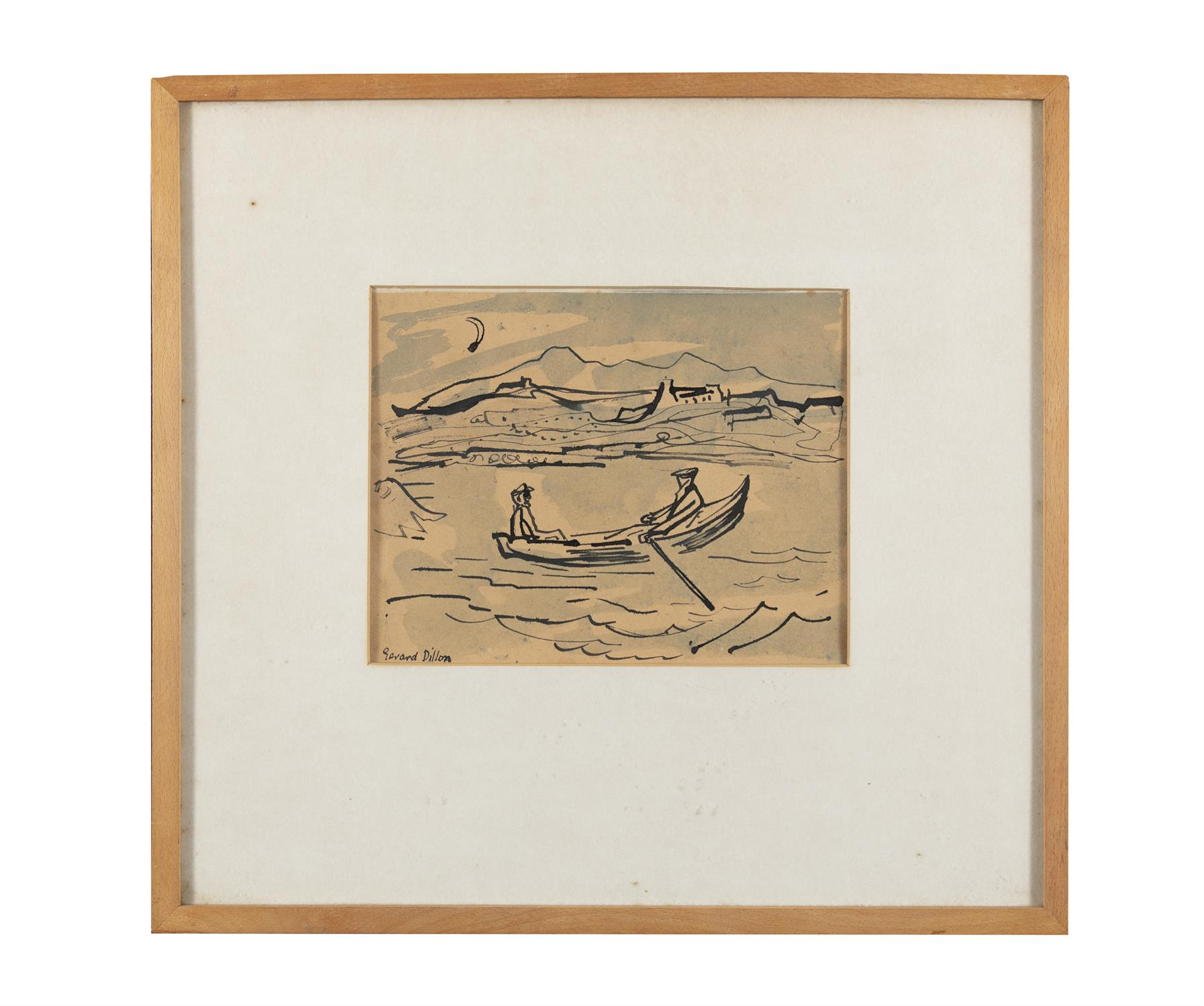 Gerard Dillon (1916-1971) Two Figures in a Currach Watercolour, 17.5 x 22.5cm (6¾ x 8¾'') Signed - Image 2 of 5