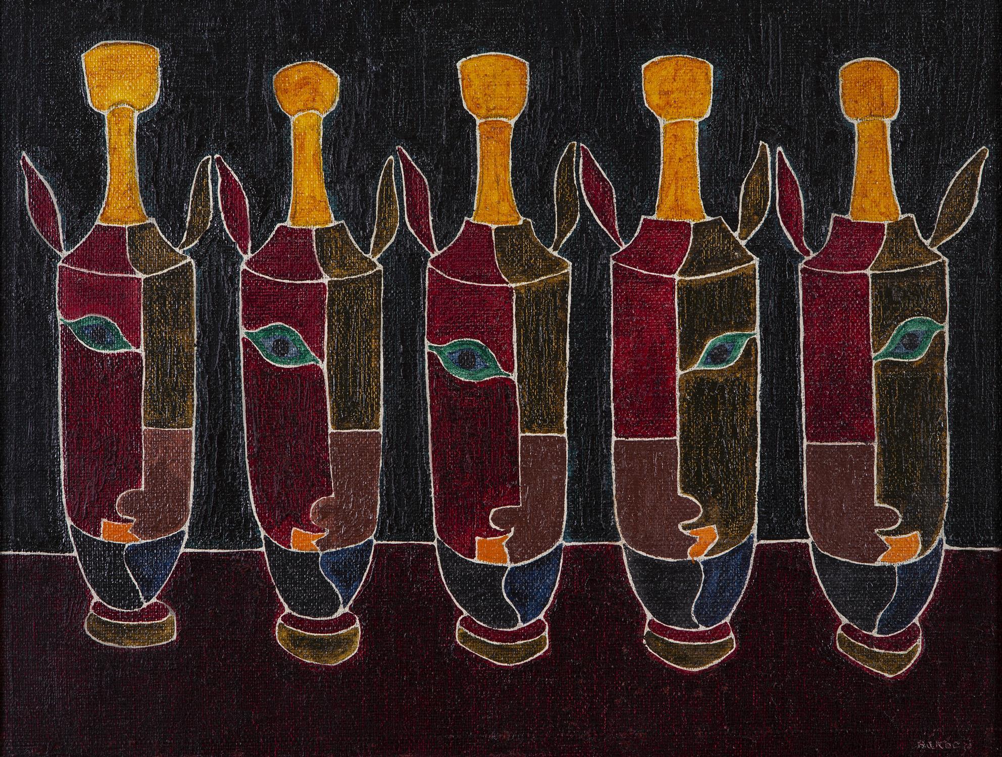 Basil Ivan Rákóczi (1908-1979) Funeraires (Funeral Urns) Oil on canvas, 41 x 61cm (16 x